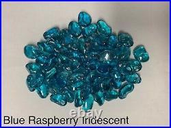 Blue Raspberry Iridescent Fire Glass, Gas Fireplace, Gas Fire Pits, Landscape