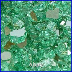 Blue Ridge Brand Reflective Fire Pit Glass 1/2 Fire Glass for Gas Fire Pit