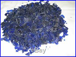 Blueberry colored Fire glass for your gas fireplace or gas fire pit GL-Dark Blue