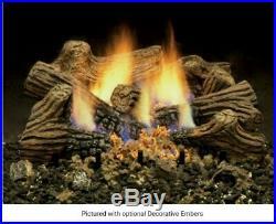 Bnib 24 Monesson Charred Timbers- Triple Play Burners -vent Free Gas Logs