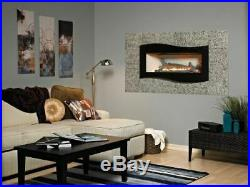 Boulevard Contemporary Linear VF IP Fireplace withSS Liner and Logs, NG