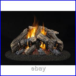 COLD WEATHER24-in 55,000-BTU Dual-Burner Vented Gas Fireplace Logs #CRHWV24RP