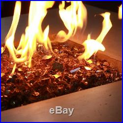 COPPER AMBER 1/2 Premium Reflective Tempered Fire Glass, Fireplace & Fire Pit