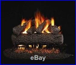 Canyon Oak Vented Gas Log 24 Natural Gas with Remote Control