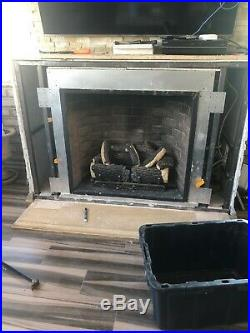 Carolina Outdoor Gas fireplace with Logs, 42 inch