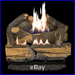 Cedar Ridge 18 Dual-burner 30k BTU Vent- Gas Fireplace Log Set-NEW