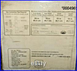 Cedar Ridge 18 Vented Gas 6 Log Set Dual Burner 45,000 BTU New In Box Bargain