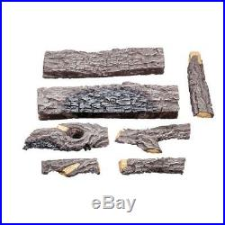 Charred River Oak 18 in. Vented Natural Gas Log Set Imitation Fireplace Logs