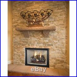Chimney Fireplace 24 Split Oak Vented Natural Gas Log Set Dual Fire Burner