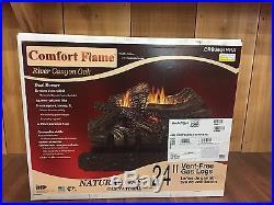 Comfort Flame CRB3624NRA Vent Free Gas Log, 25000 36000 BTU, 24 in, Natural Ga