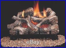 Comfort Glow CRB3624NRA Vent-Free River Canyon Oak Ceramic Fiber Gas Logs, 24
