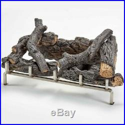 Concrete Log Set with Stainless Fireplace Grate for 450 Series Outdoor Fireplace