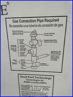 Country Oak Vent Free Dual Fuel Gas Log Set 18 in. 30,000 BTU Manual Control