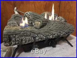 Desa Majestic Natural Gas 24 Vent-Free Fireplace Burner & Log Set Model # H24N