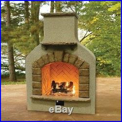 Designer Outdoor Fireplace Propane & Natural Gas Crystal Fire & Log Set