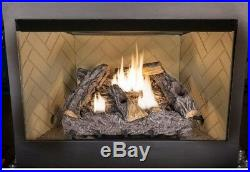 Dual Fuel Gas Log Set Thermostat 24 in. Timber Creek Vent Free Home Heating