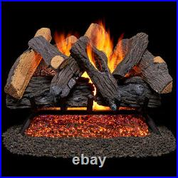 Duluth Forge Vented Natural Gas Fireplace Log Set 24 in, 55,000 BTU