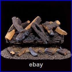 Duluth Forge Vented Natural Gas Fireplace Log Set 30 in, 65,000 BTU FNVL30-1