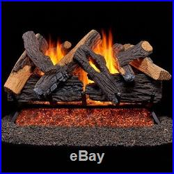 Duluth Forge Vented Natural Gas Fireplace Log Set 30 in, Heartland Oak