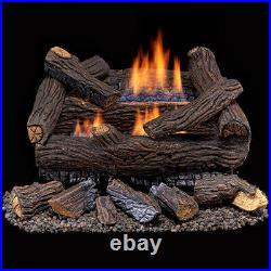 Duluth Forge Ventless Natural Gas Log Set 18 in. Stacked Red Oak #DLS-N18M-2