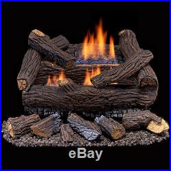 Duluth Forge Ventless Natural Gas Log Set -18 in. Stacked Red Oak Manual Control