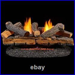 Duluth Forge Ventless Natural Gas Log Set 30 In. Split Red Oak Manual 30