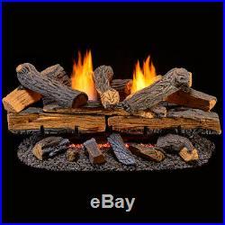 Duluth Forge Ventless Natural Gas Log Set 30 in. Split Red Oak Manual Control