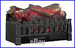 Duraflame DFI021ARU Electric Log Set Heater with Realistic Ember Bed, Antique B