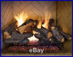 EMBERGLOW Natural Gas Vented Fireplace 24 in Log Set Dual Burner Indoor Heater