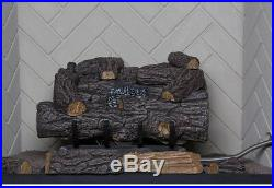 EMBERGLOW Propane Gas Fireplace 18 in Log Set Vent Free Remote Control Heater