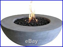 Elementi Lunar Bowl Cast Concrete Fire Pit Propane Gas