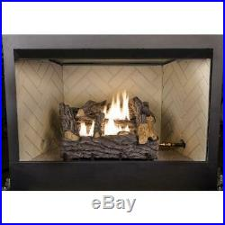 Emberglow 18 in. Timber Creek Vent Free Dual Fuel Gas Log Set with Manual Control