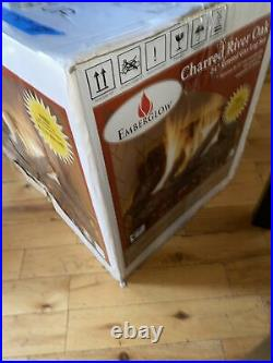 Emberglow 24 Inch Natural Gas Log Set Vented Fireplace Charred River Oak Logs