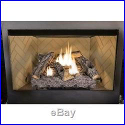 Emberglow 24 in. Timber Creek Vent Free Dual Fuel Gas Log Set with Thermostat