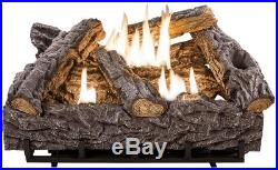 Emberglow Fireplace Logs Heater Thermostat Ventless Dual Fuel 24in. Timber Creek