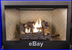 Emberglow Gas Log Fireplace Set Propane Artificial Fake Ventless Dual Fuel