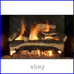 Emberglow, Mountain Oak 24 Vented Gas Log Set NG/LP With Remote