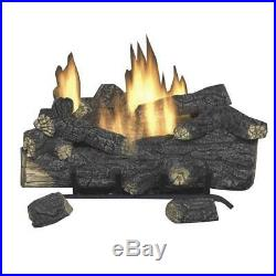 Emberglow Natural Gas Fireplace Log Fire Place 24 Inch Vent Free Remote Control