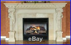 Emberglow Natural Gas Fireplace Log Set Realistic Flame Split Oak 30 Inch Vented
