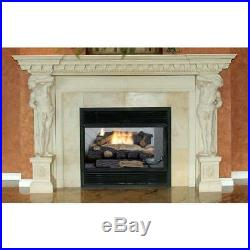 Emberglow Oakwood 24 in Vent Free Natural Gas Fireplace Logs Thermostat Control