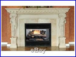 Emberglow Oakwood Fireplace Log 22.75 in Ventless Propane Gas Thermostat Control