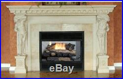 Emberglow Propane Gas Fireplace Log Vent Free Relaistic Thermostatic Control Hot