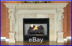 Emberglow Savannah Oak 18 in Vent-Free Natural Gas Fireplace Logs with Remote New