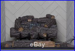 Emberglow Savannah Oak 18 in. Vent-Free Propane Gas Fireplace Logs with Remote