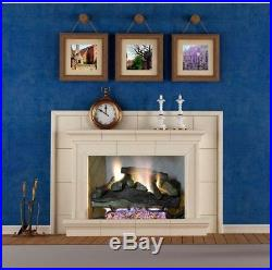 Emberglow Savannah Oak 24 In. Vent-Free Natural Gas Fireplace Logs With Remote