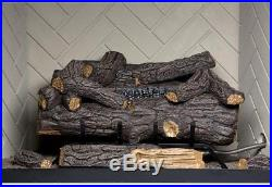 Emberglow Savannah Oak 24 in. Vent-Free Propane Gas Fireplace Logs with Remote