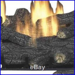 Emberglow Savannah Oak Vent Free Natural Gas Firewood Fireplace Heat Log 30 Inch