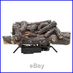 Emberglow Vent-Free Natural Gas Fireplace Logs With Remote 18 In