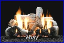 Empire Birch Vent Free Logs 18 Refractory Slope Glaze Burner IP LP