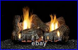 Empire Vent Free 24 Gas logs with On/Off and Flame Height Control Remote NG